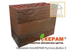 Цегла лицьова клінкерна Керамейя КлінКЕРАМ РУСТИКА Діабаз-3 М350