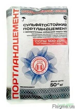 Цемент ( Новороссийский ) марки ПЦ 500 Д20 сульфатостойкий в