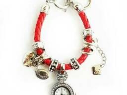 Часы браслет Pandora, Пандора (красные)