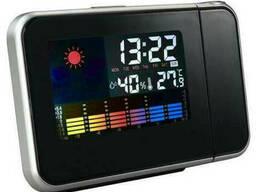 Часы метеостанция с проектором времени 8190