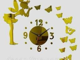 Часы настенные №1 (Золотистые) 092