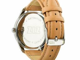 Часы Ziz Минимализм, ремешок карамельно-коричневый, серебро и дополнительный ремешок. ..