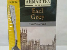 Чай черный с бергамотом AHMAD Earl Grey с ложкой в подарок