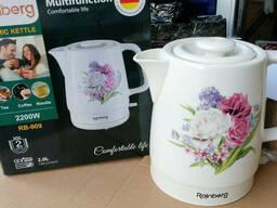 Чайник керамический Rainberg дисковый, 2 литра