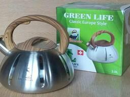 Чайник металический Green Life GL-5203 BR