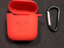 Чехол для наушников case Apple Airpods красный