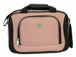 Комплект чемодан + сумка Bonro Best середній рожевий