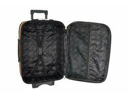 Текстильна валіза Bonro Style (середня) чорно-вишнева