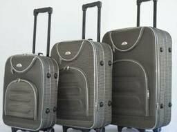 Чемодан на колесах сумка Bonro набор 3 штуки Цвет: серый кле - фото 2