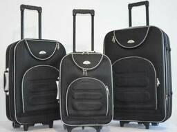 Чемодан сумка дорожный Bonro комплект 3 штуки Цвет черный кл