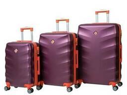 Чемодан сумка дорожный Bonro Next набор 3 штуки бордовый