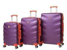 Чемодан сумка дорожный Bonro Next набор 3 штуки т. фиолетовы