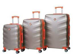 Чемодан сумка дорожный Bonro Next набор 3 штуки шампан