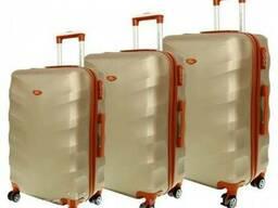 Чемодан сумка Exclusive набор 3 штуки шампан