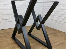 """Черная металлическая опора """"Delta"""" ножка для стола"""