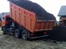 Чернозем перегной песок доставка самосвамамы Макаровский р-н