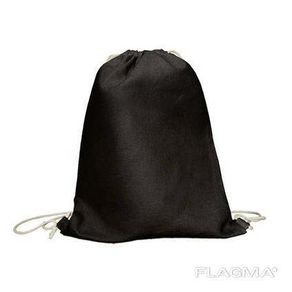 Черный эко рюкзак 100% хлопок в наличии