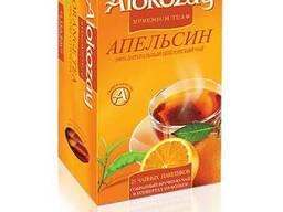 Черный пакетированный чай с апельсином Alokozay 25 шт.