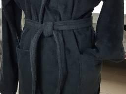 Черные махровые халаты
