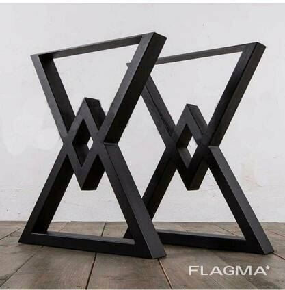 """Черные металлические опоры """"Delta"""" ножки для стола"""