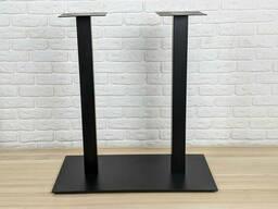 """Черные ножки из металла """"DUO"""" для стола опоры для стола в рестораны и кафе"""