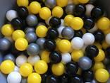 Черные шарики для сухих бассейнов, мячики детские, кульки - фото 4