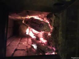 Чистим сажу в димоходах пічних конструкціях.
