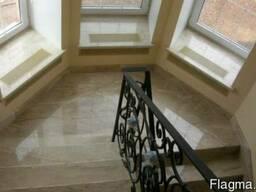 Чистка лестницы из мрамора ступени гранитные реставрация