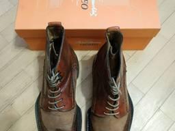 Чоловіче/ Мужское/ Взуття Обувь/ Ботинки/ Туфли /Мода/Стиль/Кожа/Люкс/Italy