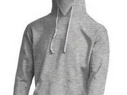 Чоловічий реглан з капюшоном колір сірий