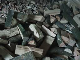 Chopped Firewood natural moisture