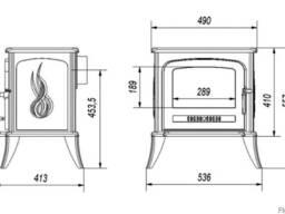 Чугунная печь на дровах Kratki Koza K7 - фото 3