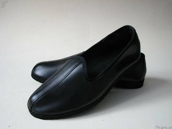 Чувяки кожаные, тапочки, обувь специальная, резиновая подошв