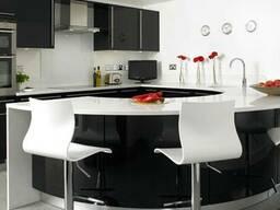 Чёрно-Белая Кухонная Мебель для Кухни