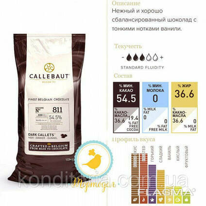 Шоколад черный Barry Callebaut 811 250г.