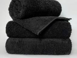 Чёрные махровые полотенца