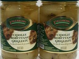 Цибуля Буреттане на грилі в оливковій олії