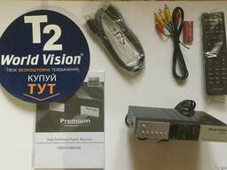 Цифровий ефірний DVB-T/T2 та DVB-C приймач World Vision Prem