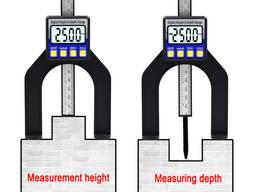 Цифровой глубиномер глубинометр с магнитной линейкой индикатор измеритель глубины 0-80мм