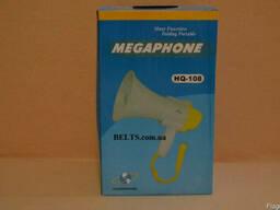 Цина.Мегафон HQ-108 с микрофоном и аккумулятором