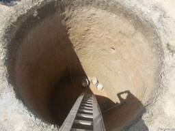 Cливная яма подключ, траншеи под водопровод, канализацию.