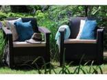 Allibert Corfu Duo Set мебель из искусственного ротанга - фото 2