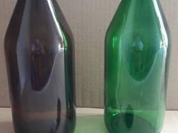 Cтеклянная бутылка 1 литр. (химфлакон, техническая бутылка)