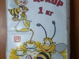 """Цукор """"Бджілка"""" 1кг, 1/10 (паперовий пакет)"""