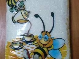 """Цукор """"Бджілка"""" 1кг, 1/10 (поліпропіленовий пакет)"""