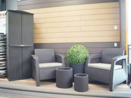 Curver Corfu Duo Set мебель из искусственного ротанга - фото 3