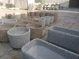 Цветочница Фрегат 700х250х300 мм. с вымытова бетона с. ..