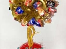 Цветочное дерево из конфет