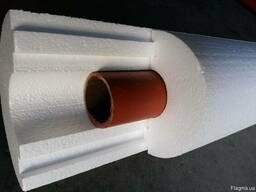 D 110 мм, толщ 50 мм, плотность 35 утеплитель для труб.
