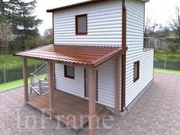 Дачный модульный дом 2 этажа